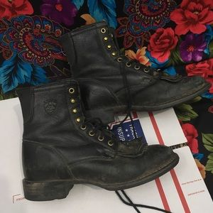WOMEN'S ARIAT LEATHER BOOTS SIZE 5.5 B SHOES